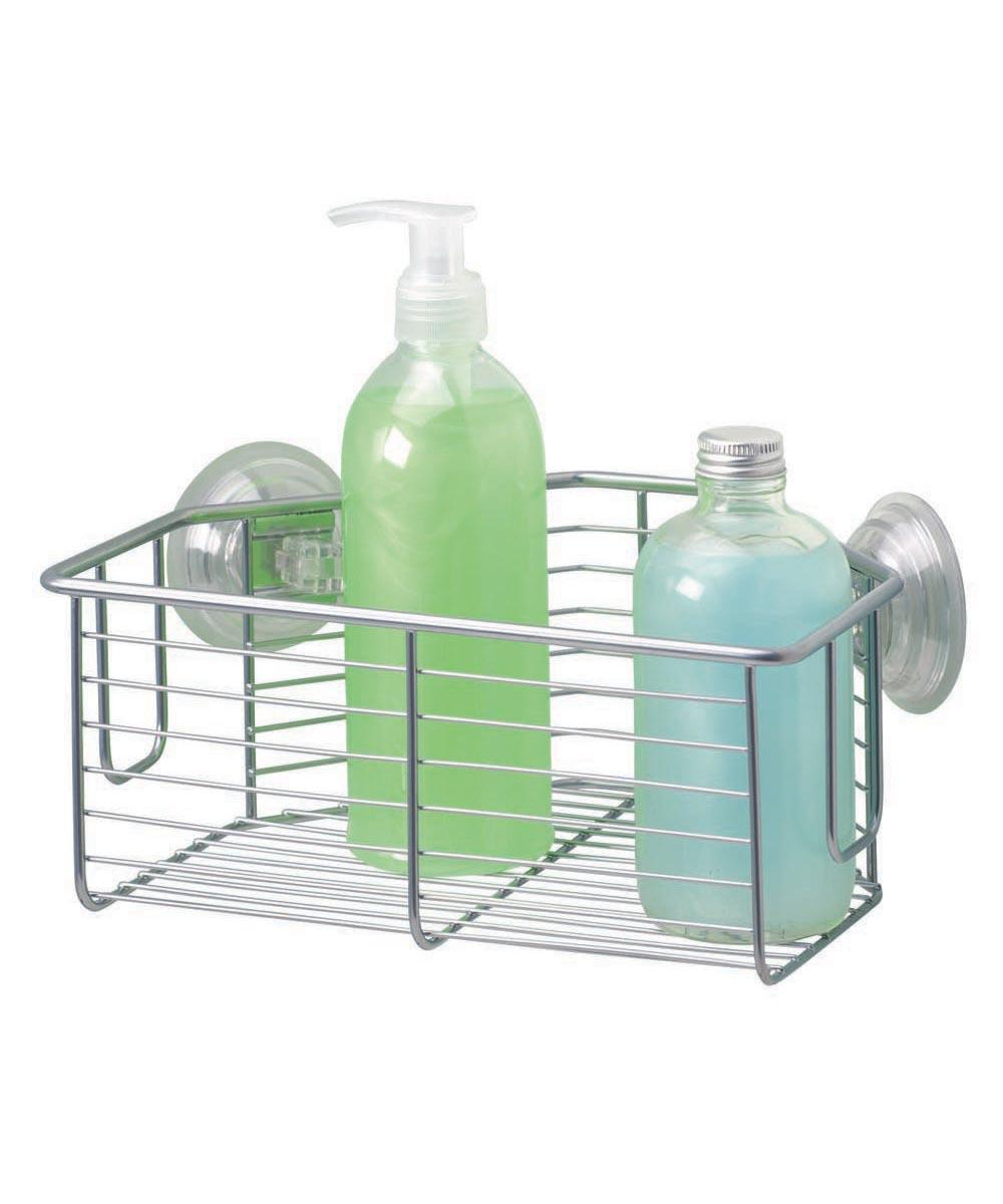 Classico Bathroom Suction Metal Corner Basket