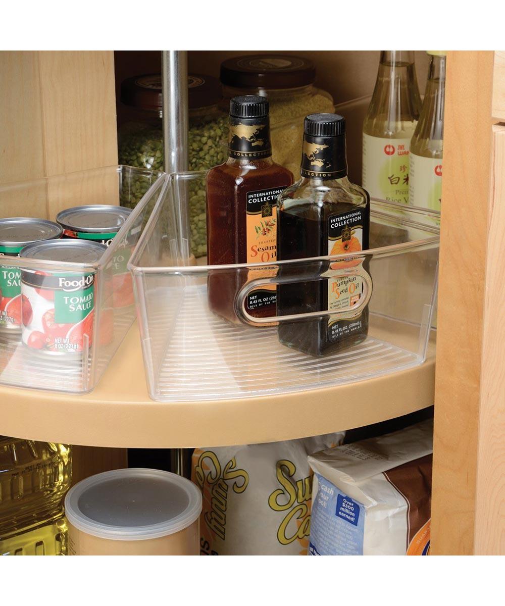 Lazy Susan Cabinet Binz Storage Bin, Clear