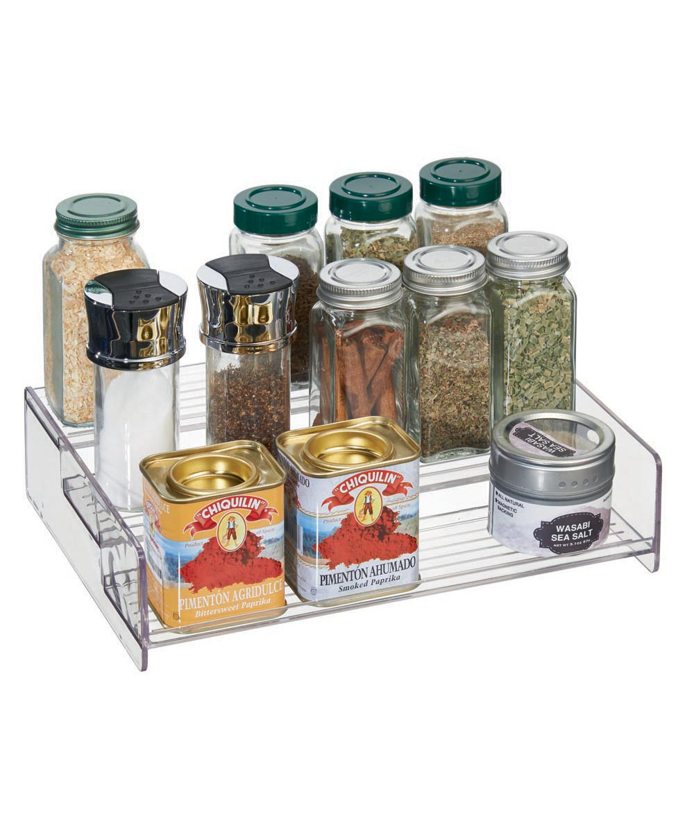 Linus 3-Tier Countertop Spice Rack, Clear