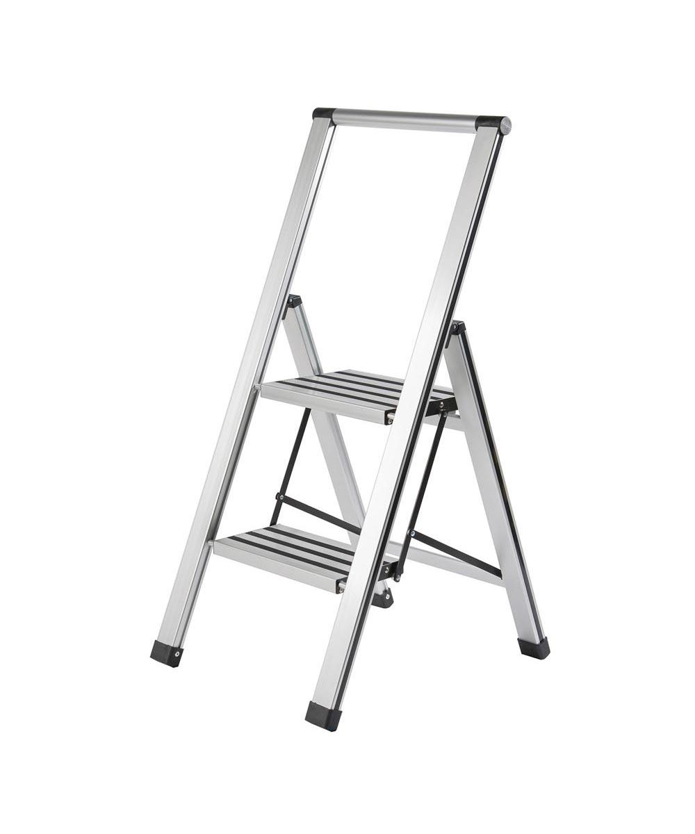 Aluminum Slimline 2-Step Heavy Duty Ladder