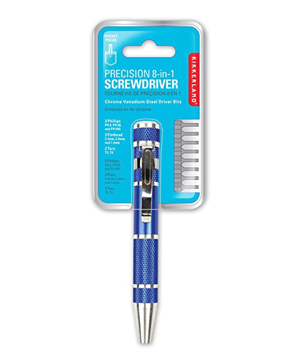 Precision 8-in-1 Screwdriver, Assorted Colors