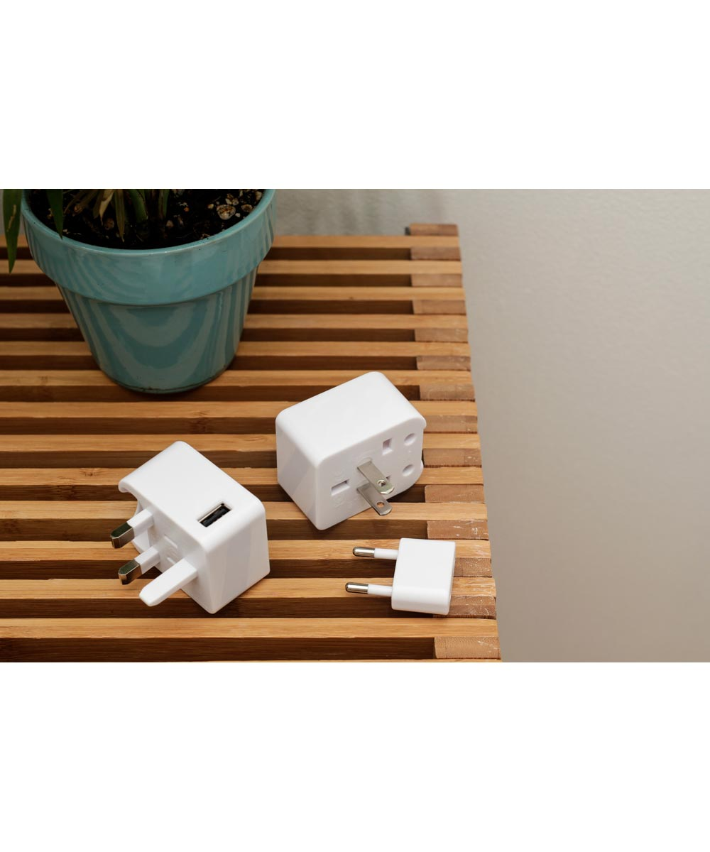 Compact Travel Outlet Adapter with USB