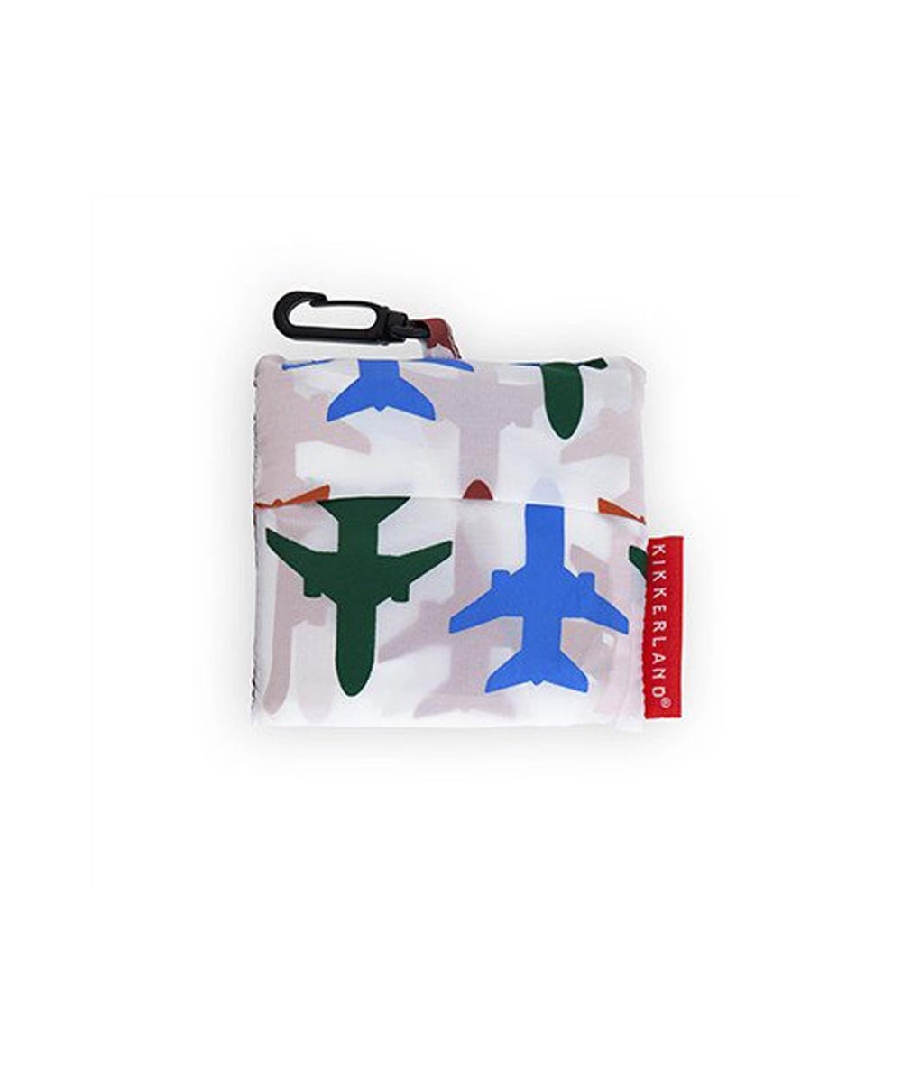 Travel Laundry Bag with Airplane Print