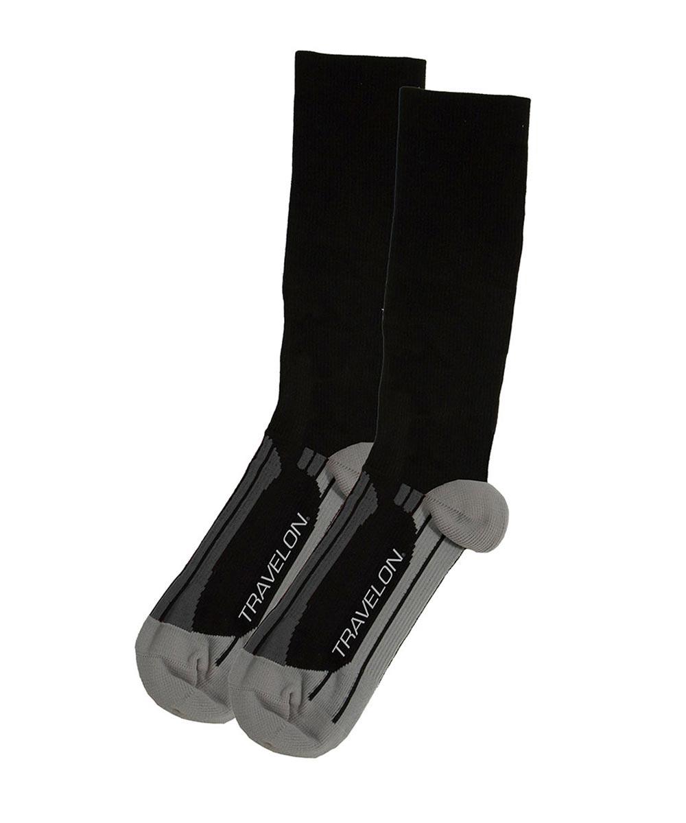 Compression Travel Socks, Medium Black