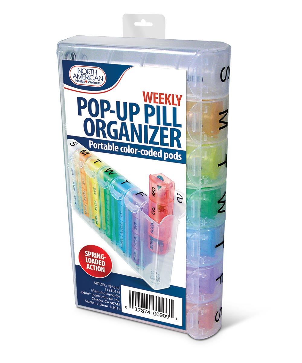 Weekly Pop-Up Pill Organizer