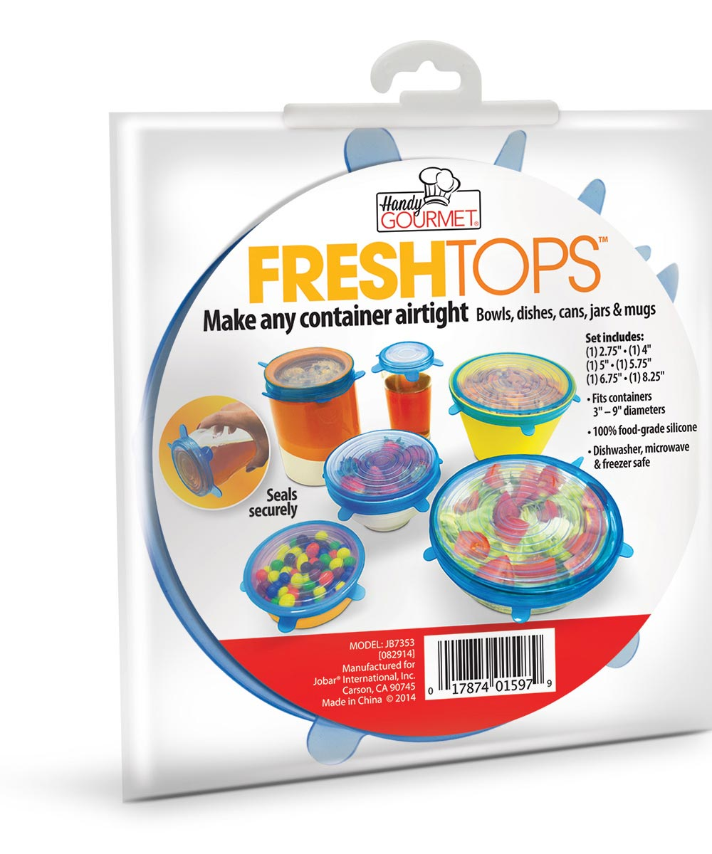 Fresh Tops Bowl & Cup Sealing Food Covers, Set of 6