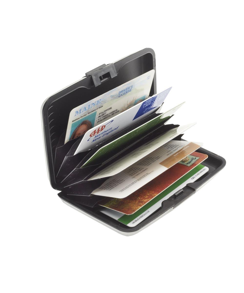 RFID Blocking Aluminum Card Case, Black