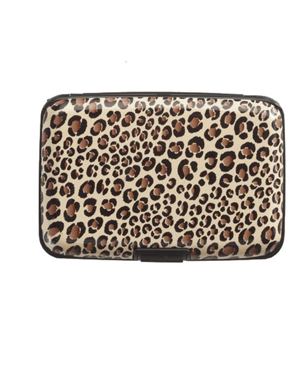 RFID Blocking Aluminum Card Case, Leopard Design