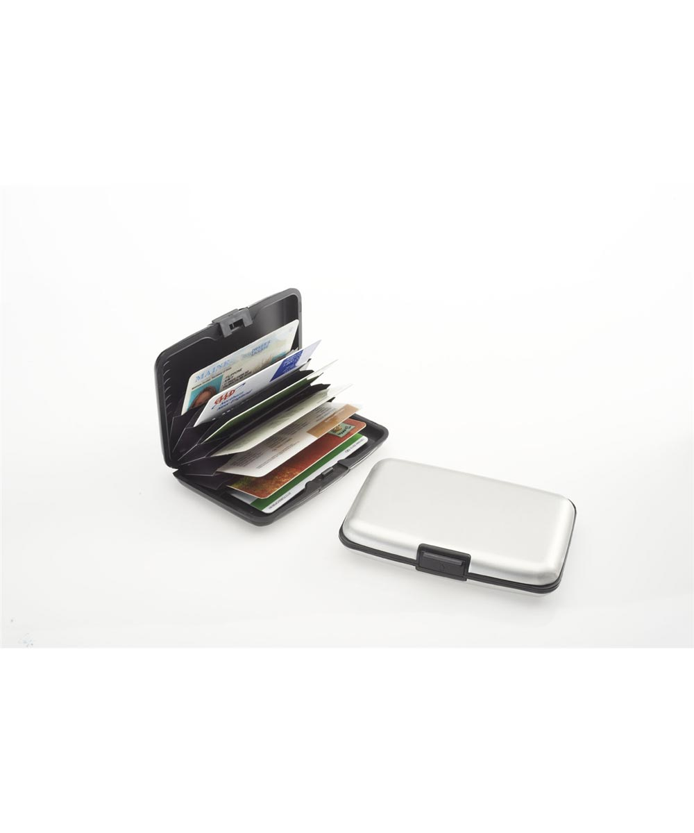 RFID Blocking Aluminum Card Case, Silver
