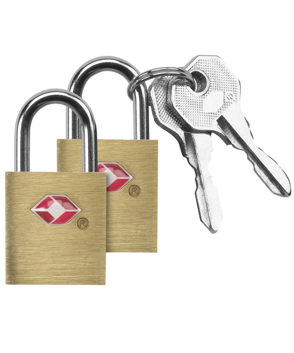 TSA Accepted Luggage Key Locks, Brass, 2 Pack