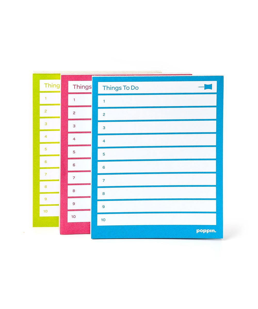 Task Pads, Multi-Color Set of 3