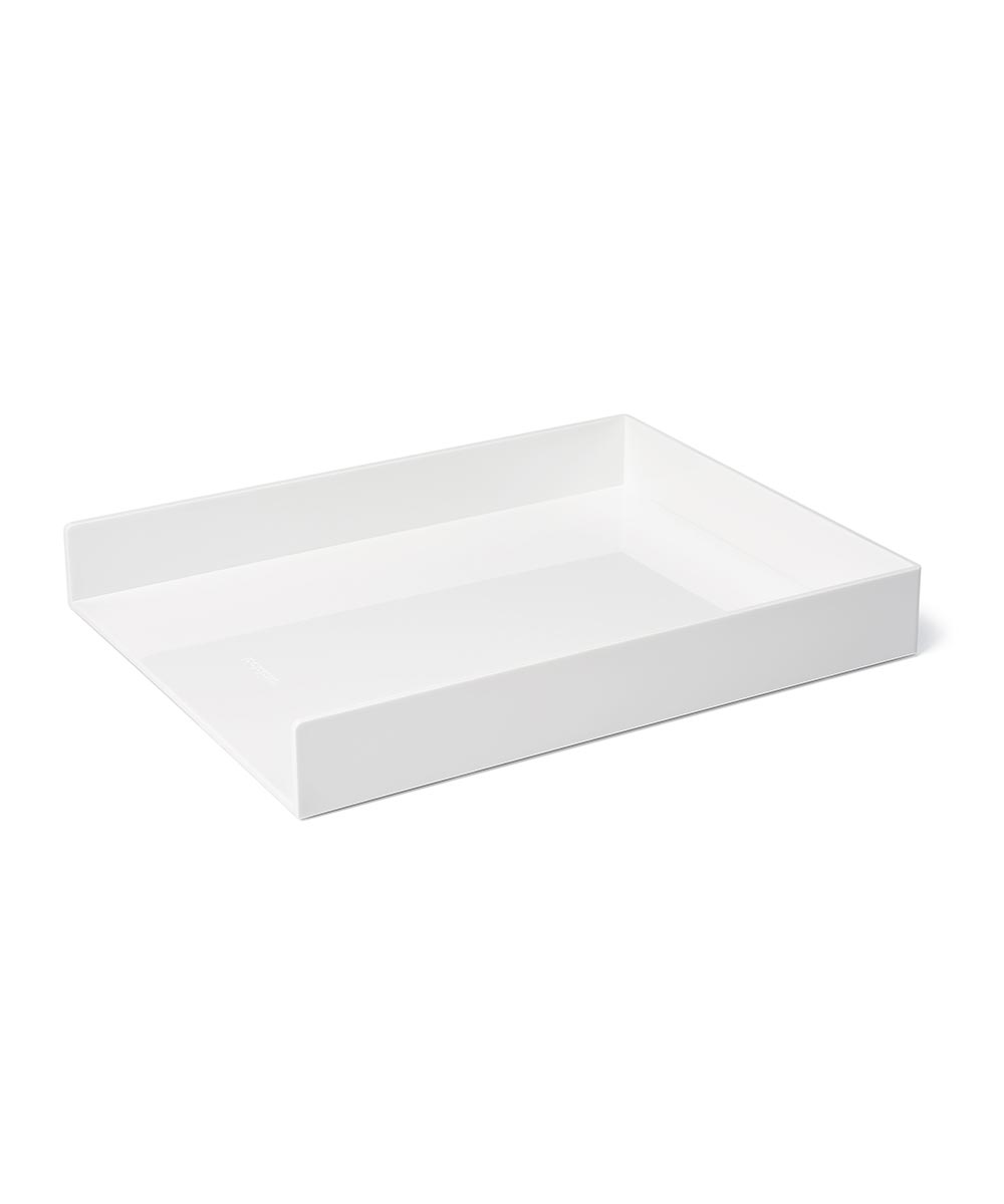 Single Letter Tray, White