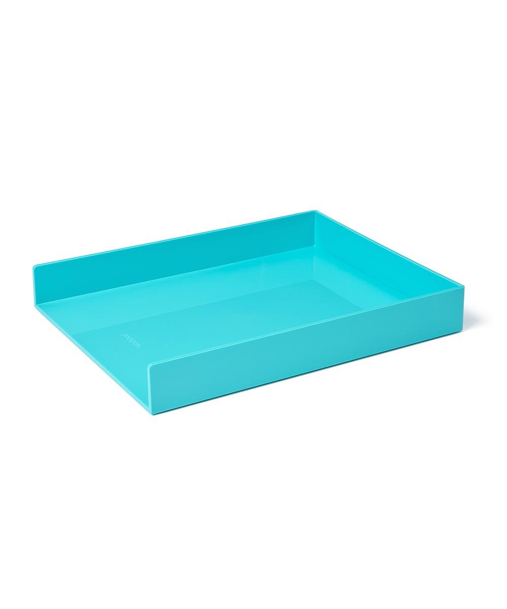 Single Letter Tray, Aqua
