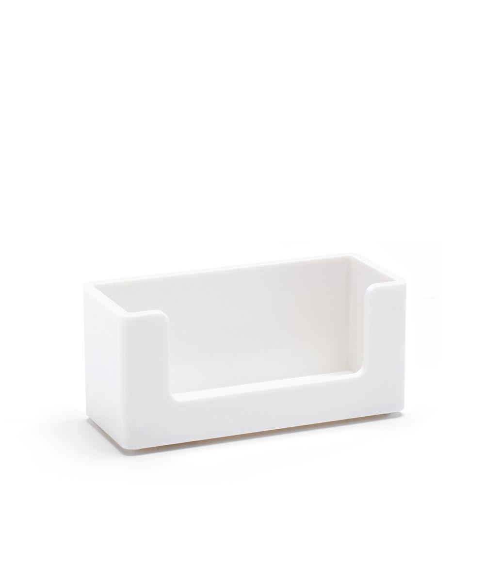 Business Card Holder, White