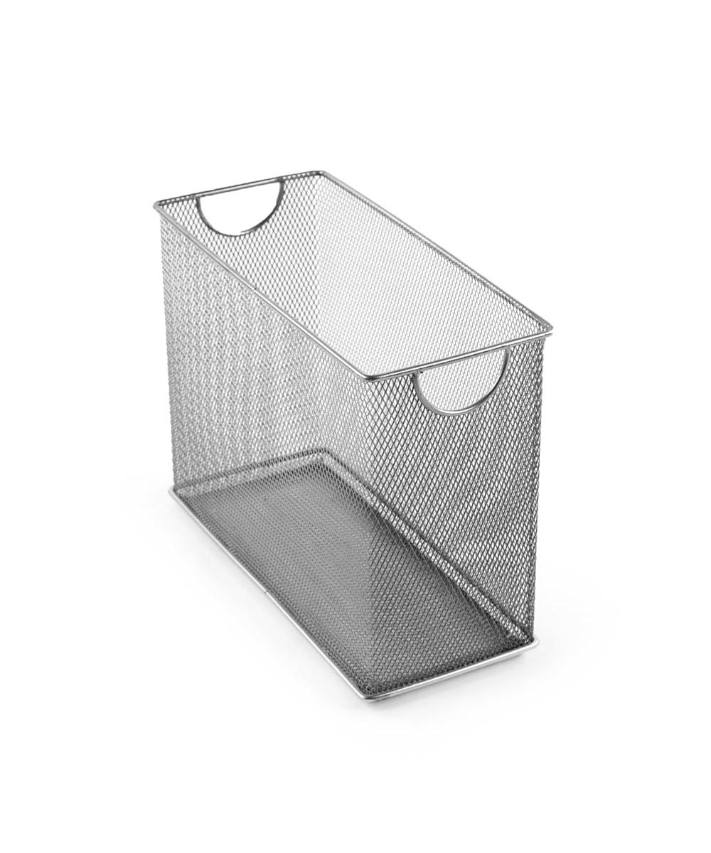 Mesh Tabletop File Holder, Silver