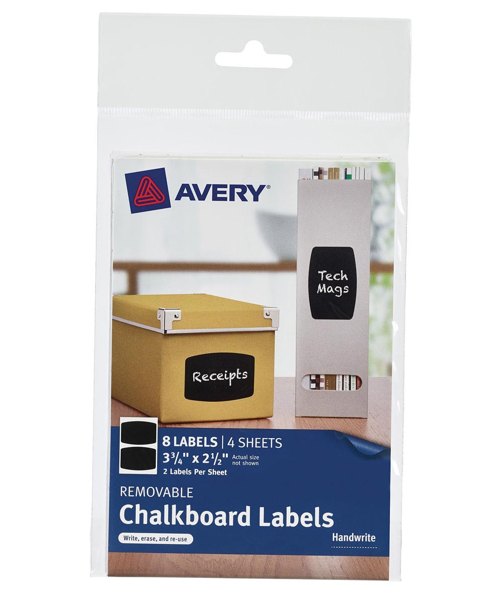 Black Removable Chalkboard Labels