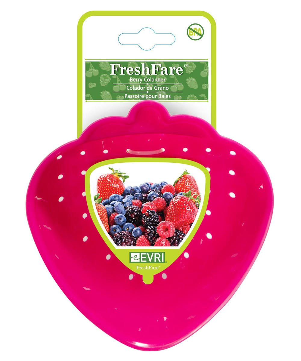 25 Ounce FreshFare Berry Colander, Assorted Colors