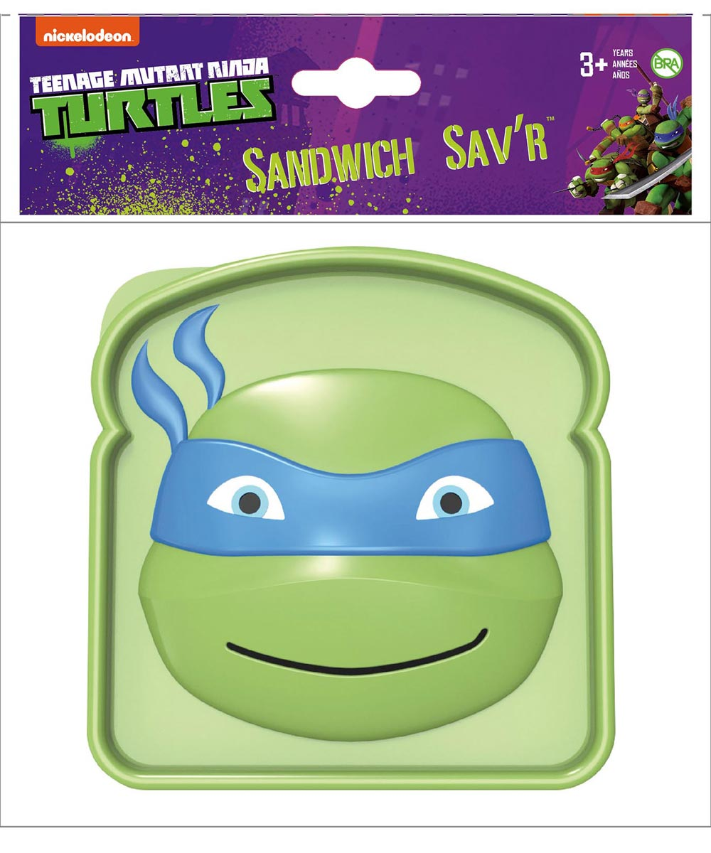 Teenage Mutant Ninja Turtle Sandwich Sav'R Sandwich Container, Assorted Characters