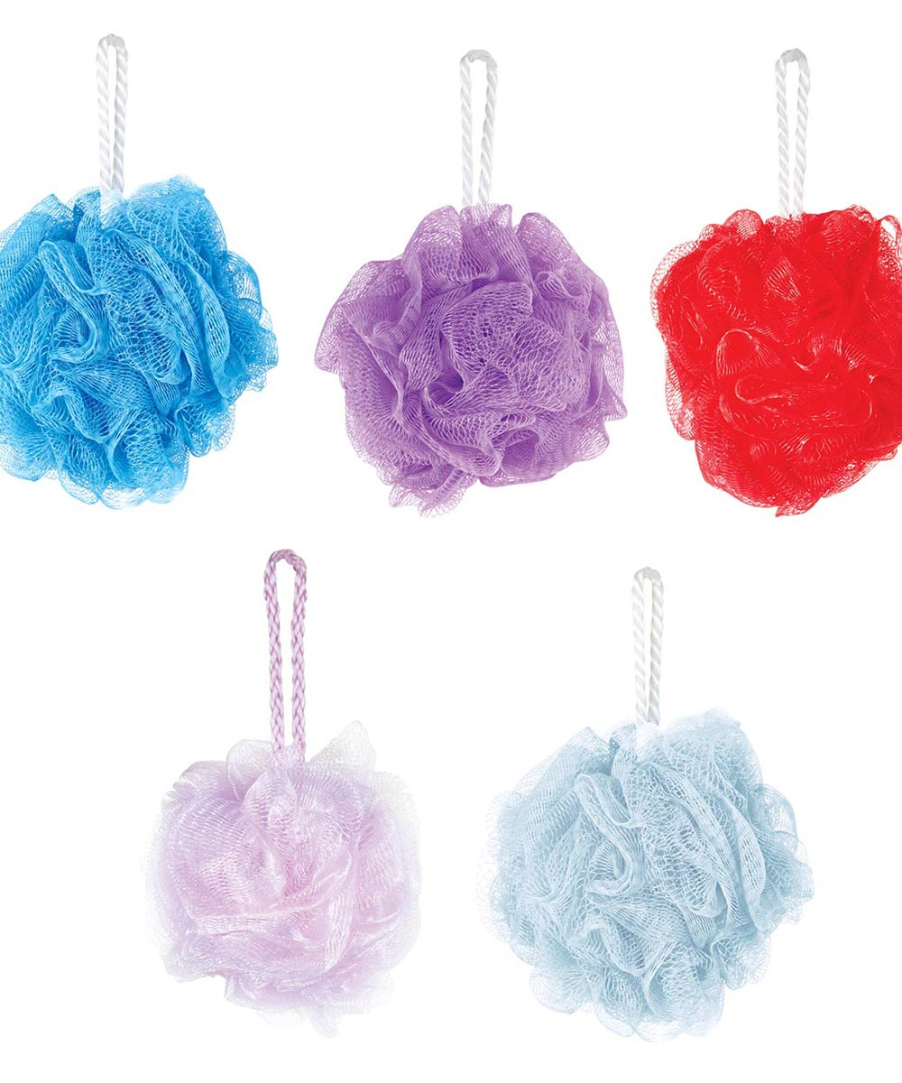 7.5 Inch Spa Bath Poof, Assorted Colors