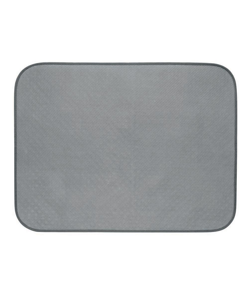 iDry Bath & Shower Microfiber Drying Mat, Pewter Gray, 18x24 Inches