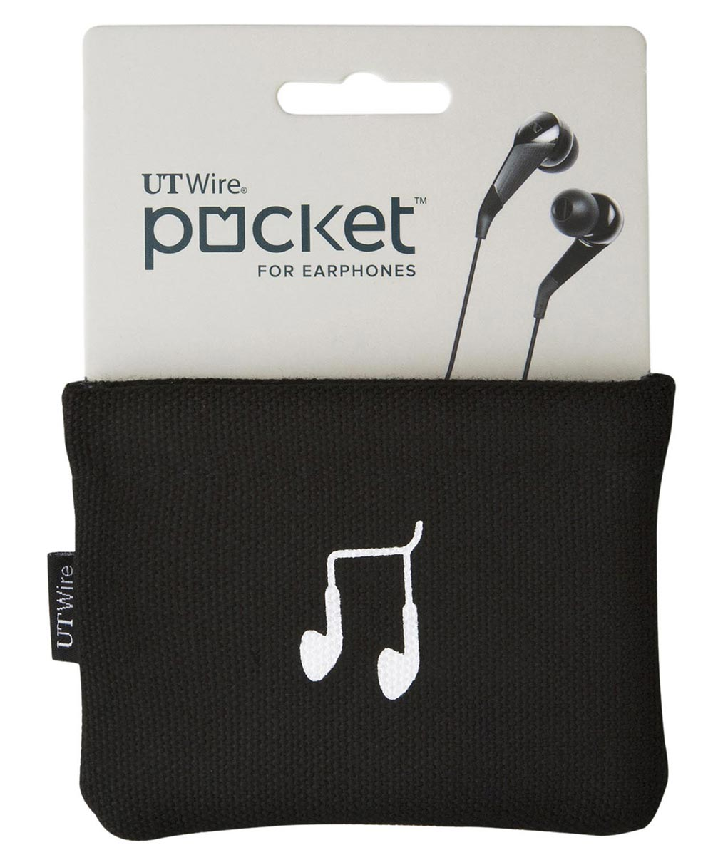 Black Pocket Pouch For Earphones