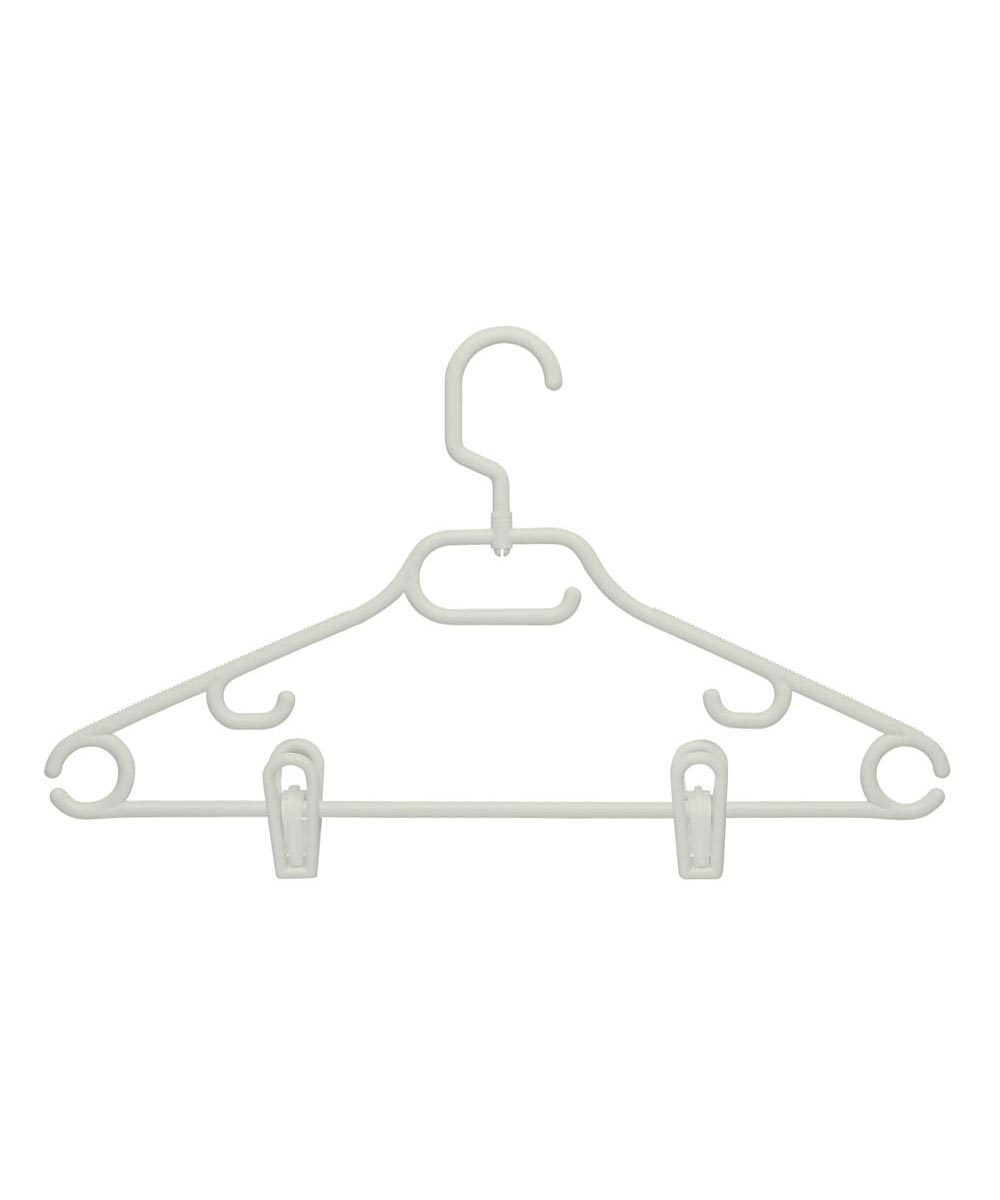 Swivel Tubular Clothes Hangers with Clips, 3-Pack
