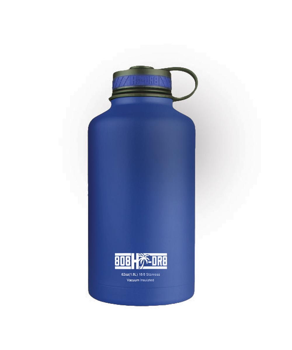62 oz Stainless Steel Vacuum Insulated Water Bottle, Blue Hawaii