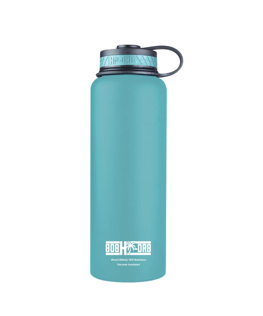 40 oz Stainless Steel Vacuum Insulated Water Bottle, Tropical Tiffany