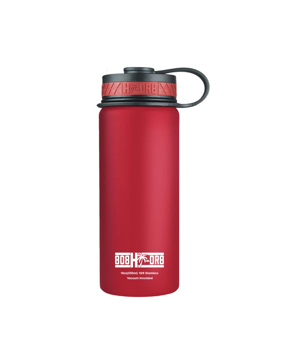 18 oz Stainless Steel Vacuum Insulated Water Bottle, Hibiscus Red