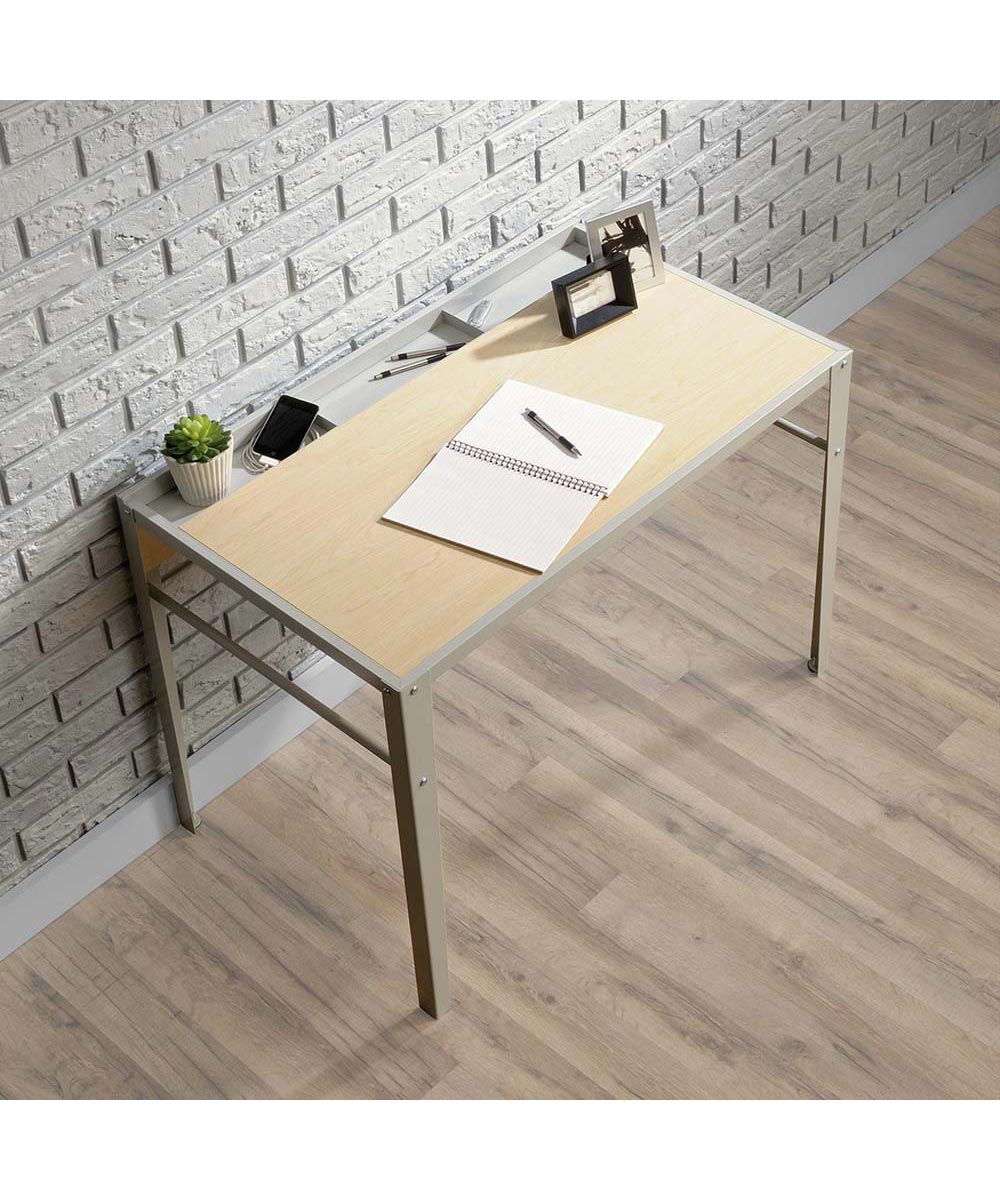 Square1 Writing Desk with Accessory Tray, Urban Ash Finish