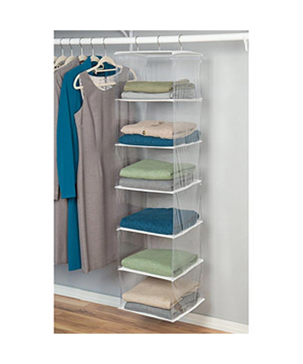 Clear Hanging 6-Shelf Organizer