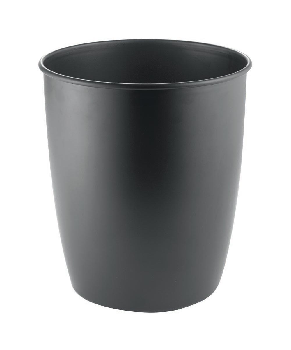 Ariana Metal Waste Trash Can, Black