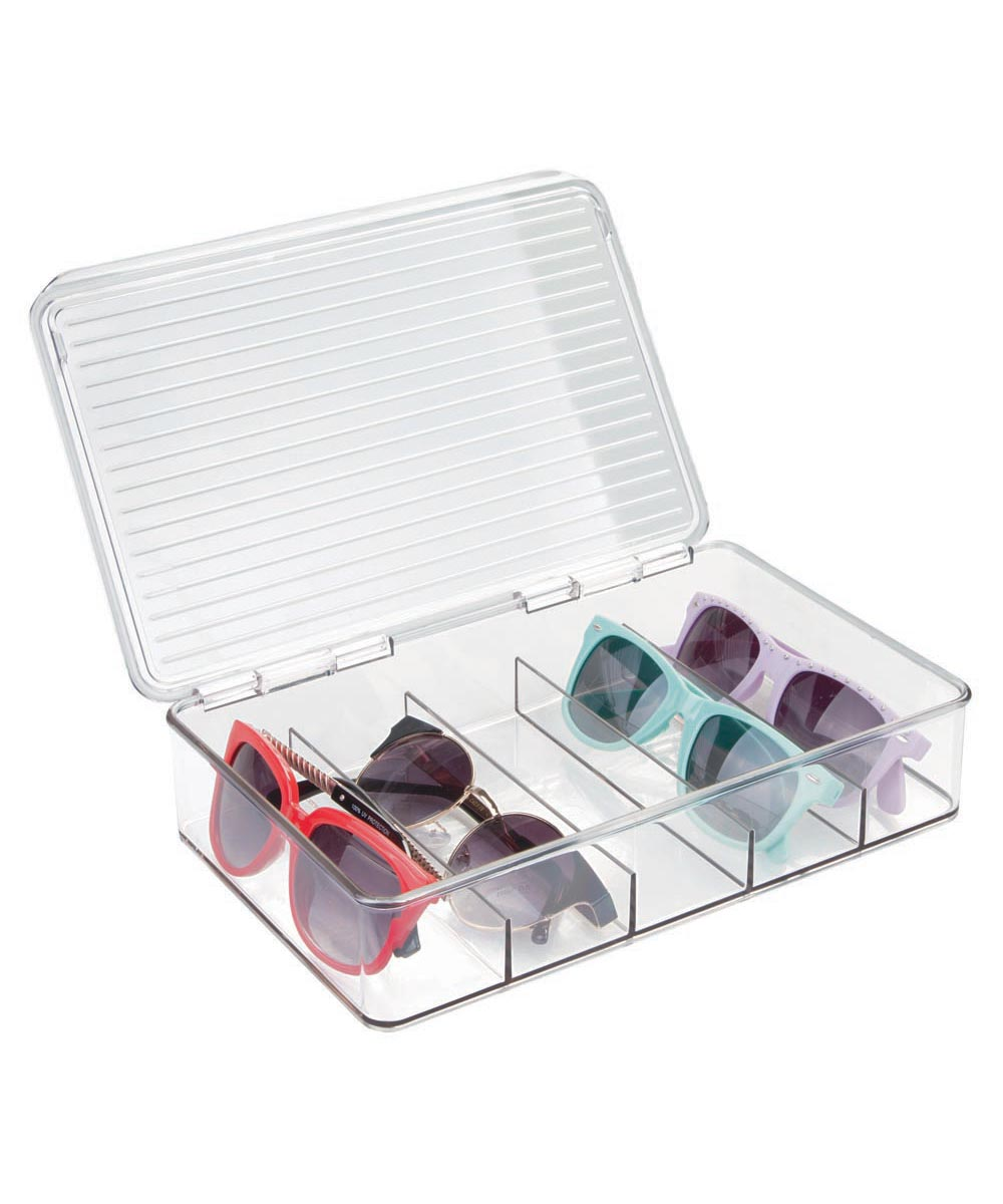 Linus Plastic Stackable Eyeglass Organizer with Cover