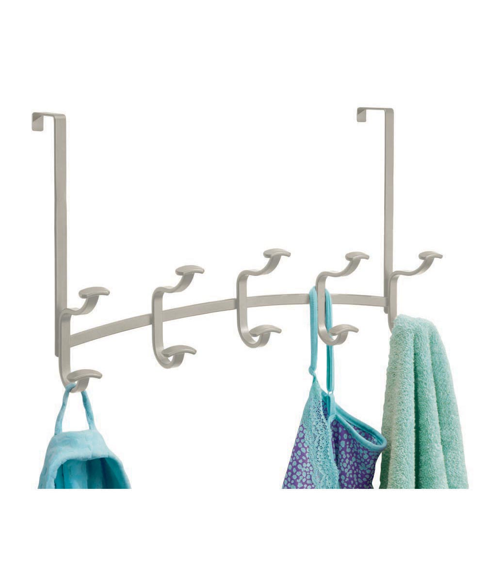 Spa Over-the-Door 5 Double Hook Rack, Satin Finish