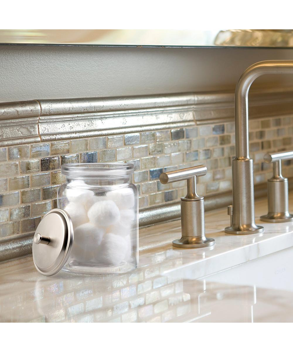 Westport Bathroom Glass Vanity Canister Jar