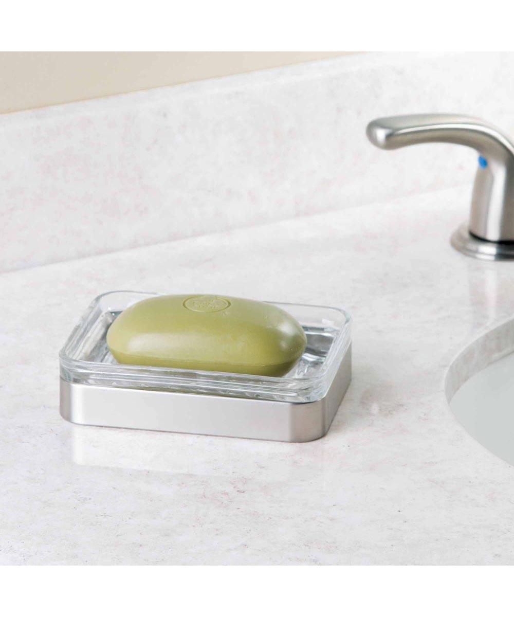 Westport Bathroom Glass/Brushed Soap Dish