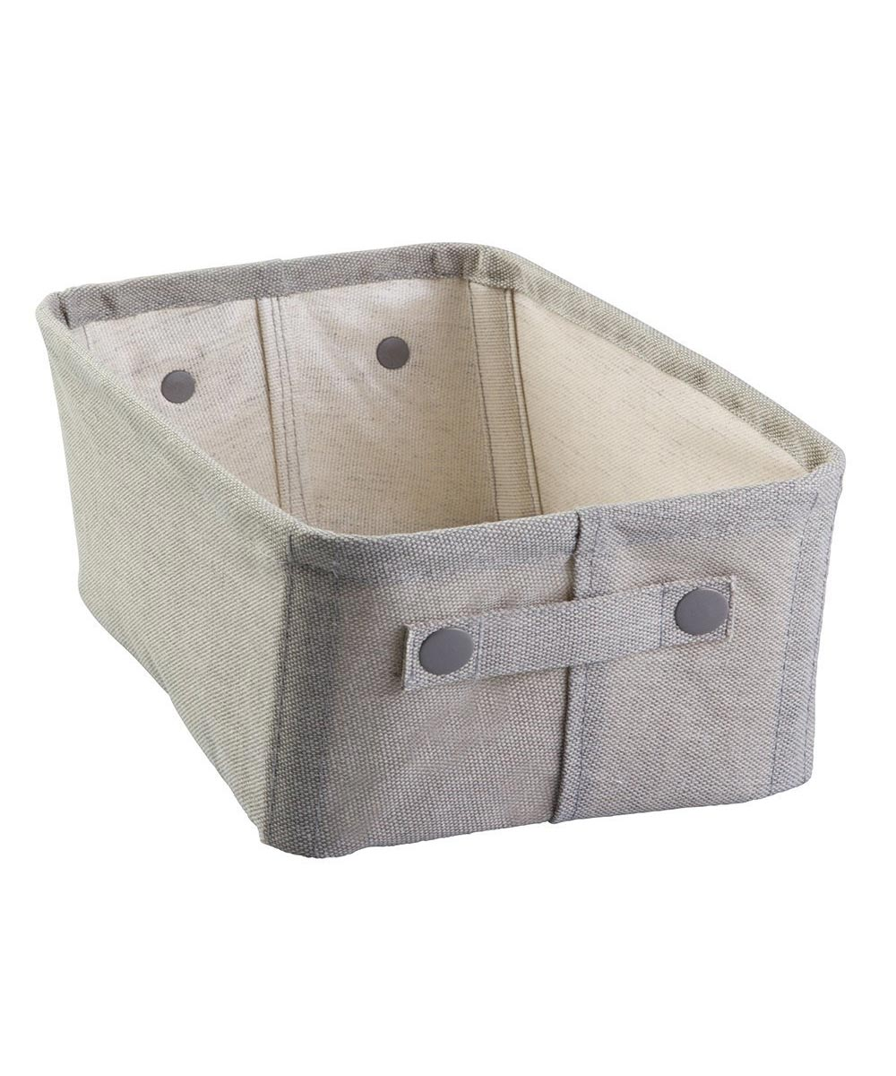 Wren Medium Cotton Fabric Storage Bin, Light Gray