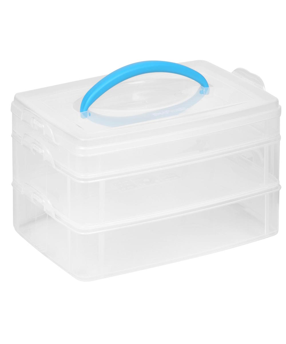 6x9 Inch Plastic Snap & Stack 3-Layer Craft Organizer