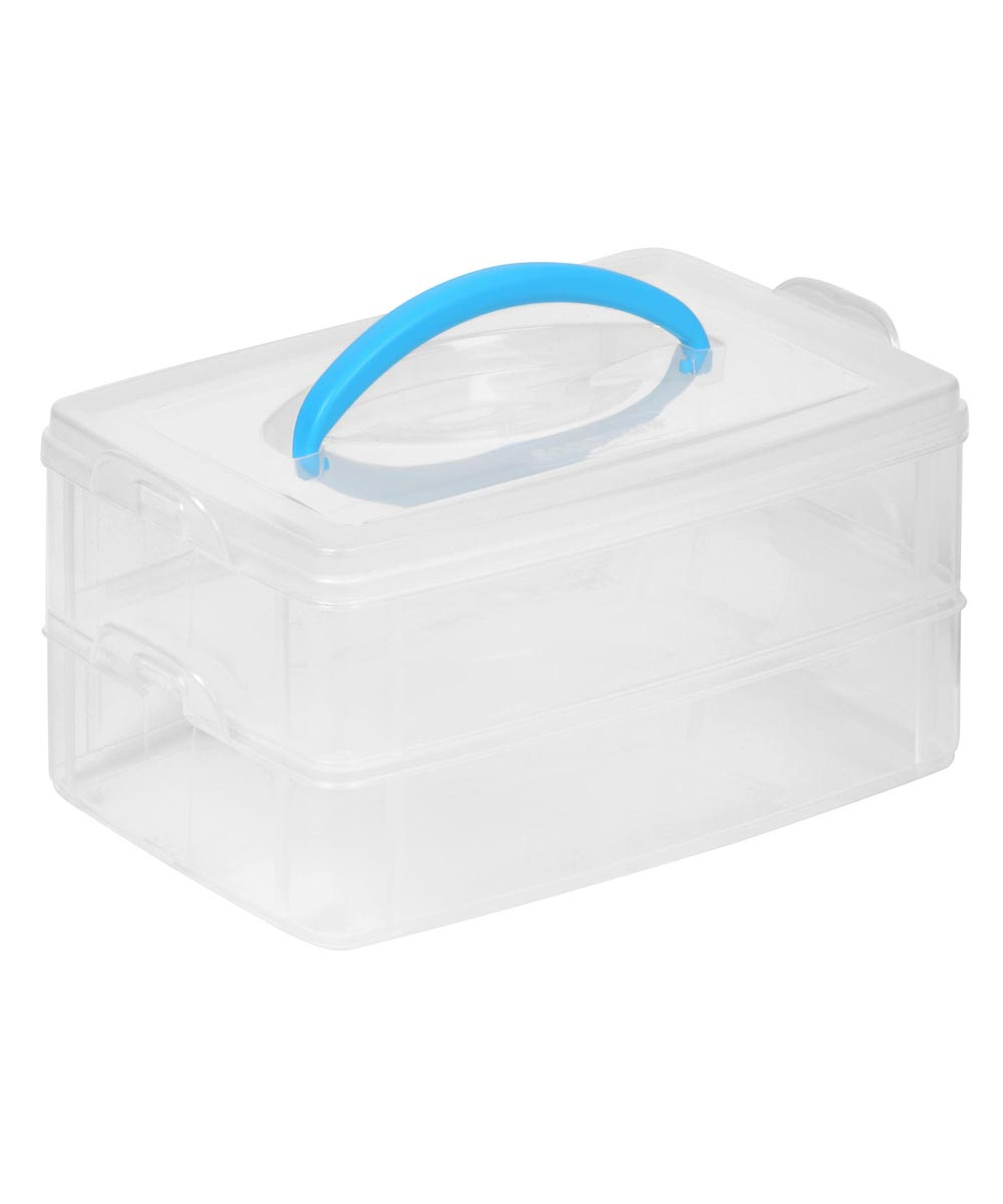 6x9 Inch Plastic Snap & Stack 2-Layer Craft Organizer