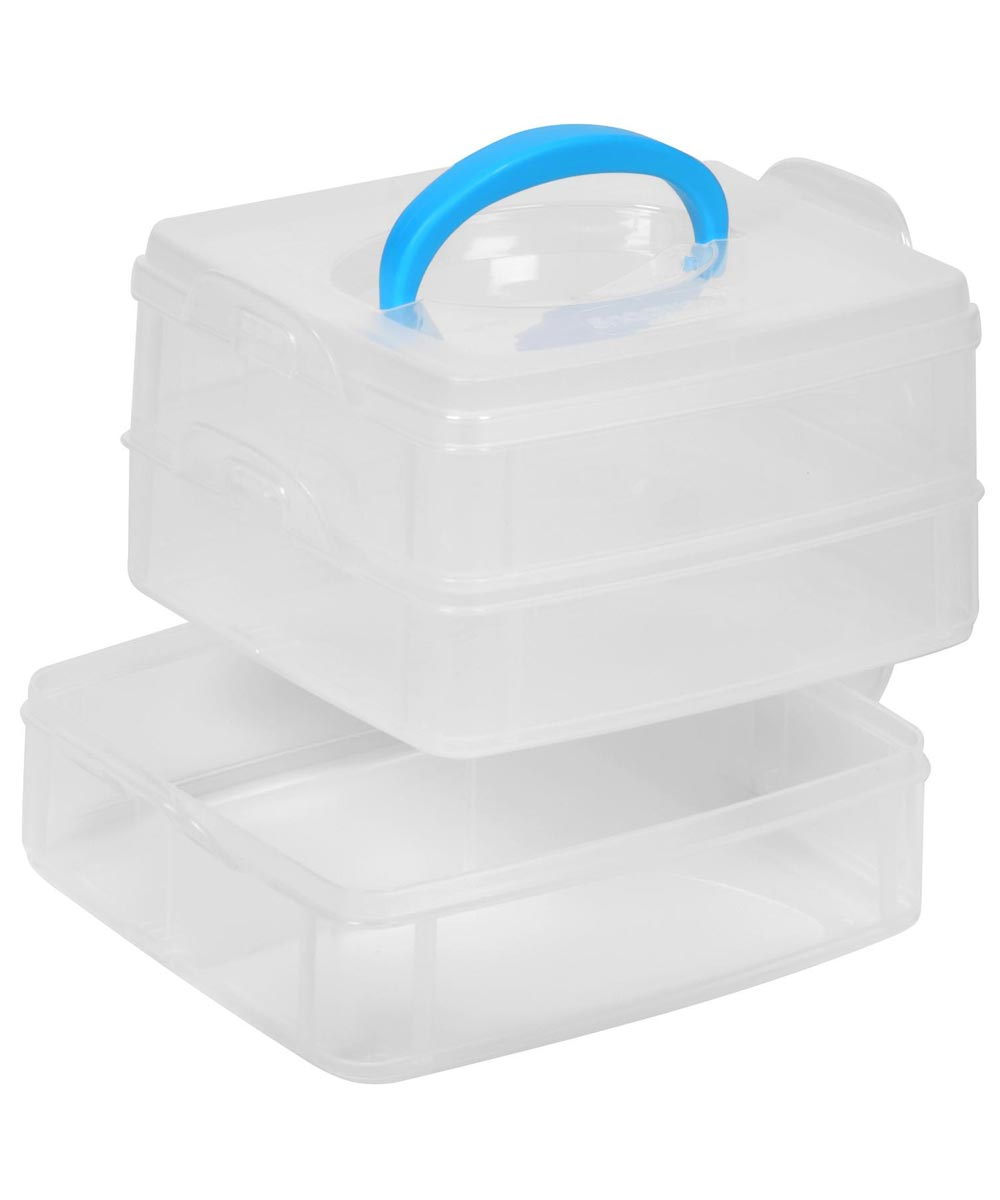 6 Inch 3-Layer Square Snap N Stack Storage Container