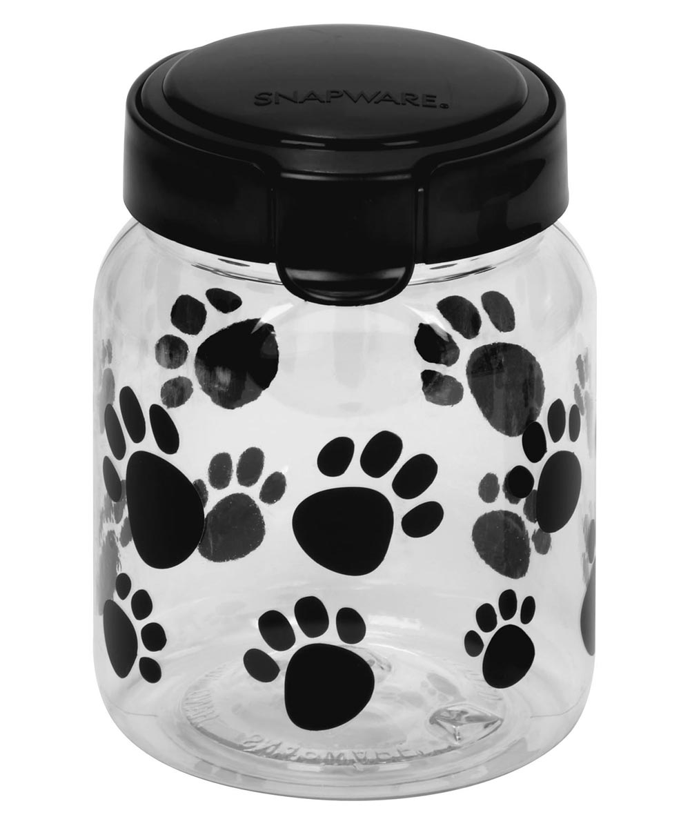 Paw Print 4-1/10 Cup Pet Treat Canister
