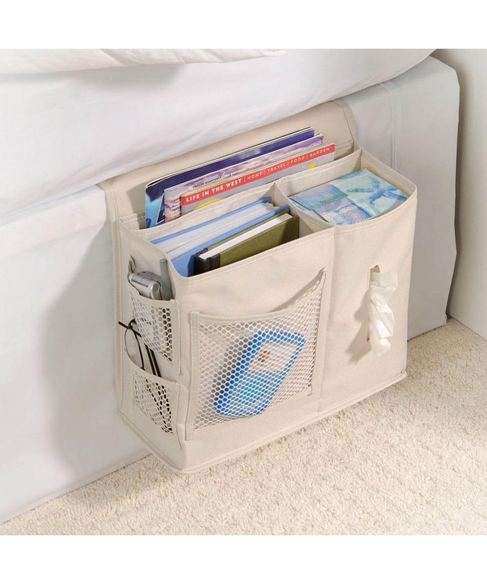 Gearbox Bedside Caddy Organizer, Flax Color