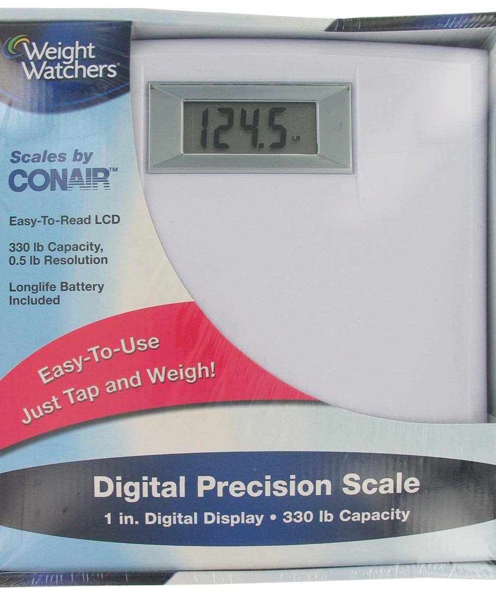 White Compact Weight Watchers Precision Electronic Scale