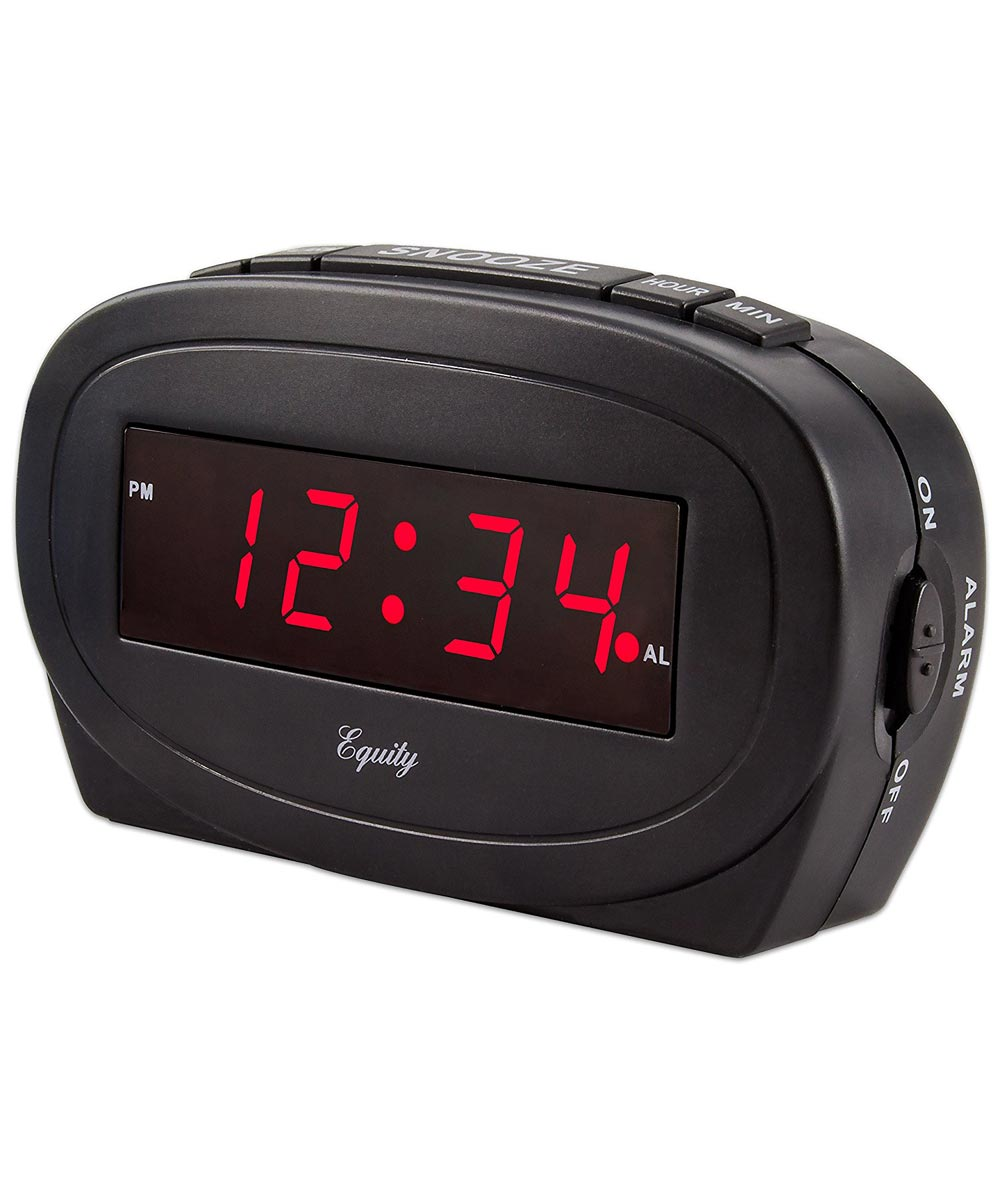Black LED Alarm Clock
