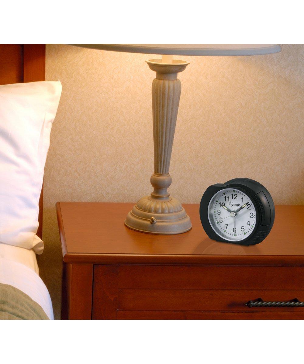 Quartz Analog Alarm Clock with Lighted Dial