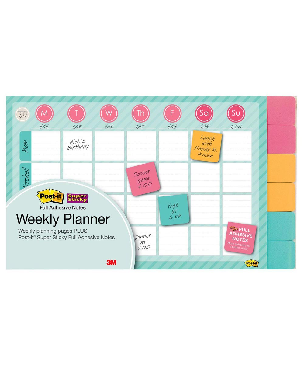 Weekly Planner, 26 Sheets, 18x12 Inches