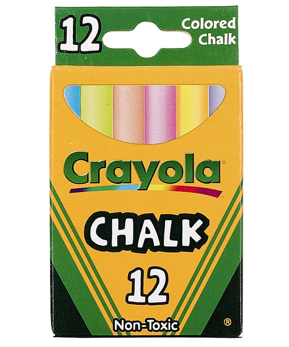 Multi-Colored Chalk, 12 Count