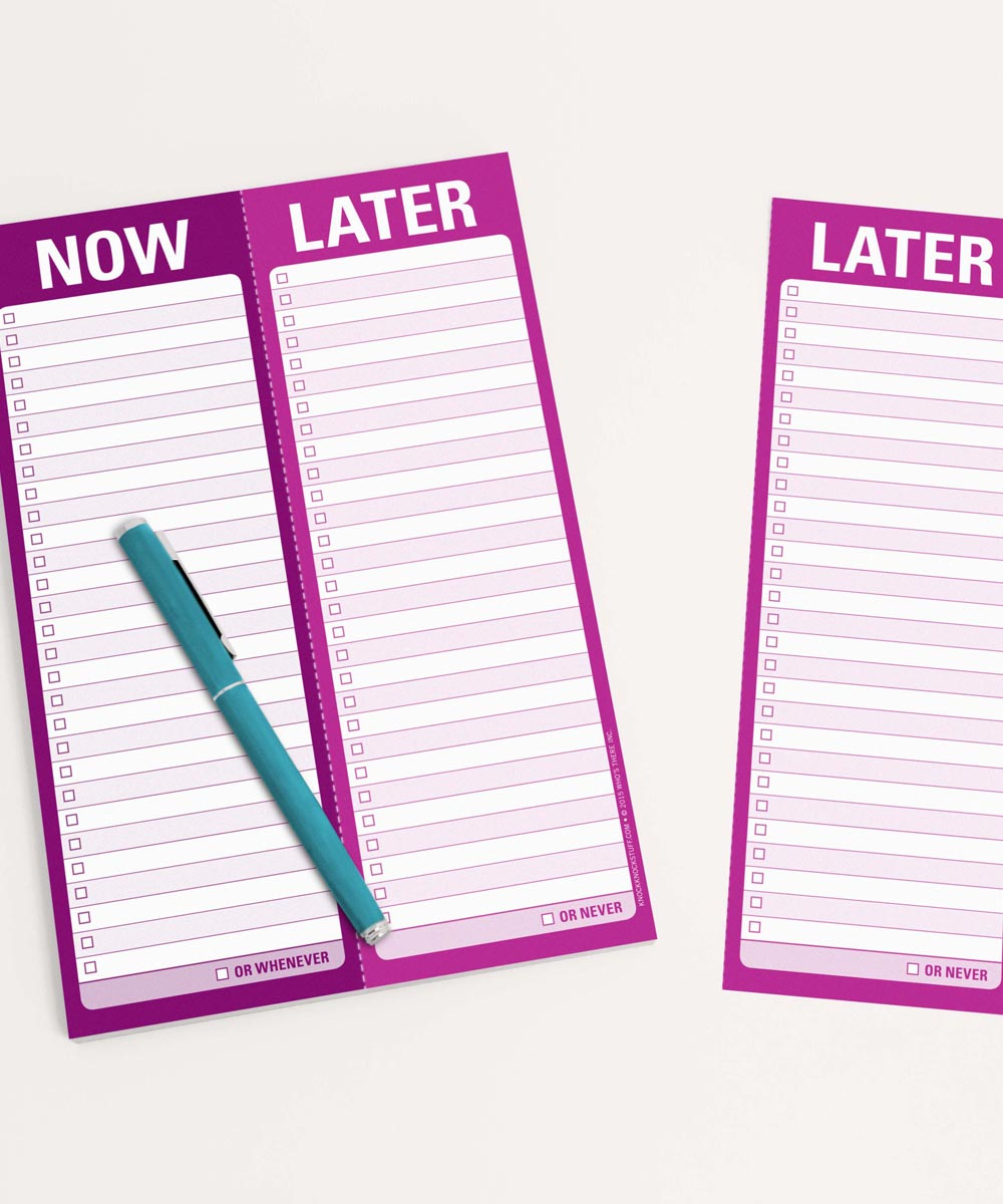 Now / Later Perforated Writing Pad