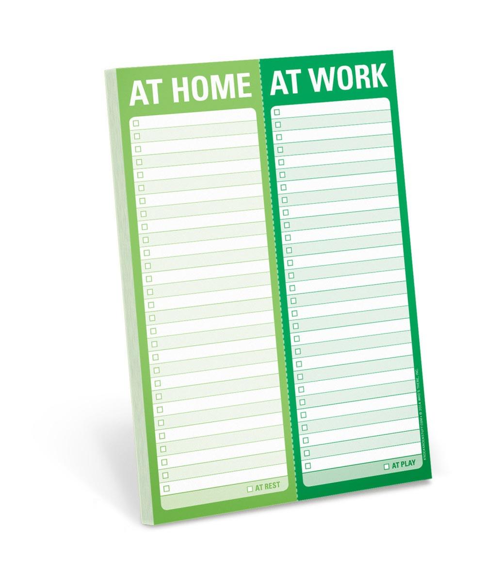 At Home / At Work Perforated Writing Pad