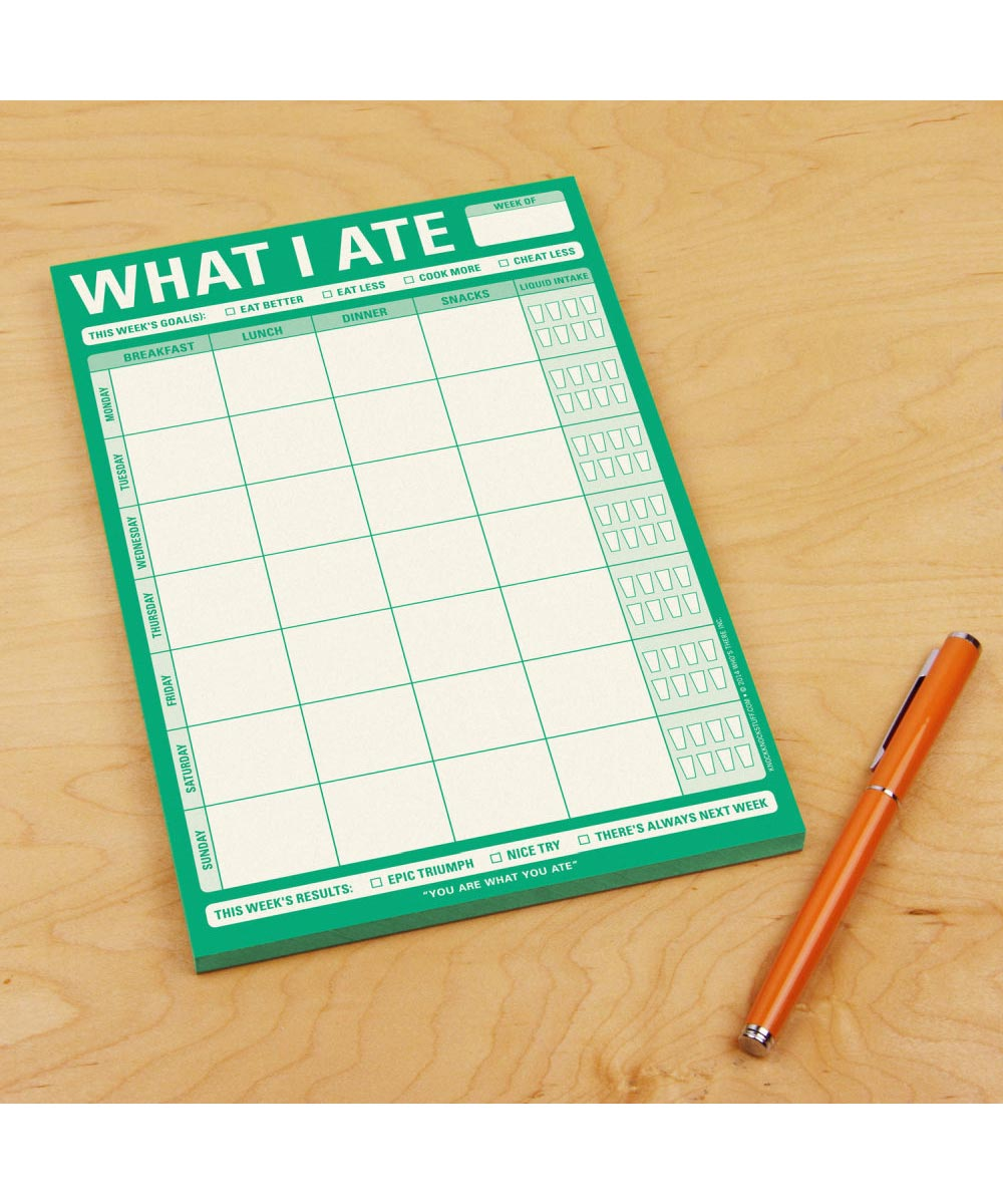 What I Ate Meal Tracking Writing Pad